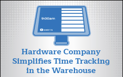 TSheets Kiosk helps simplify time tracking for manufacturing company.