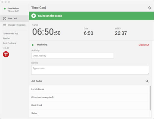 Online Time Card 1 WebBased Punch Clock App – Time Card