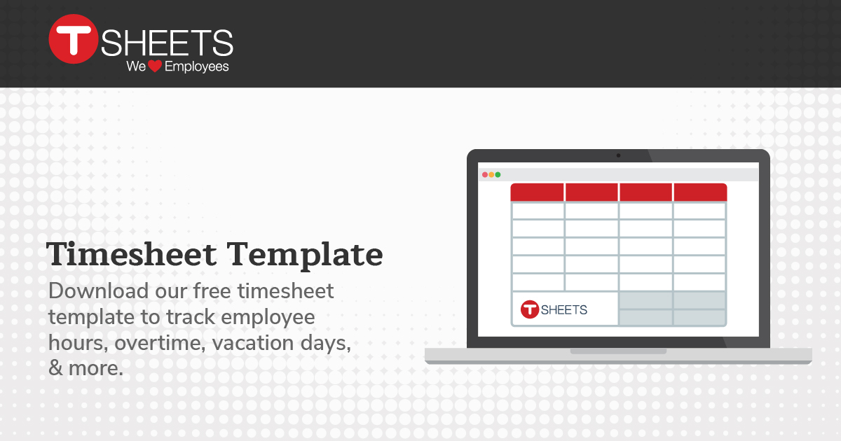 Timesheet Template - Free Excel Weekly Timesheet & Time Card Template